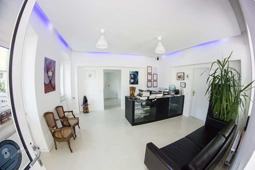 Die Beratungs-Lounge im Studio